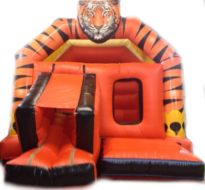 15ft x 19ft tiger bouncy castle slide combo
